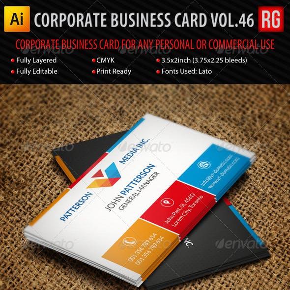 Corporate Business Card Vol.46