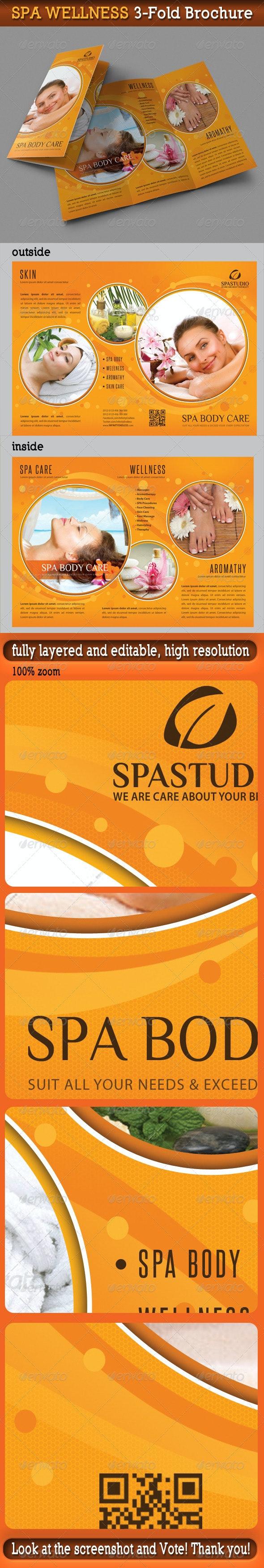 Spa Wellness 3-Fold Brochure 01 - Informational Brochures