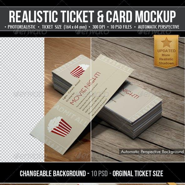 Realistic Ticket & Card Mockup