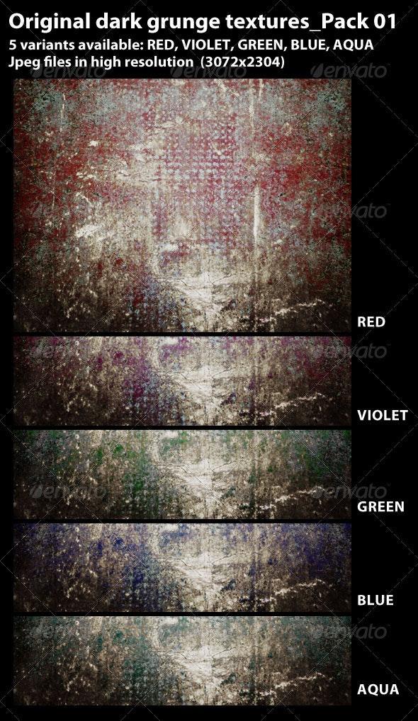 5 Dark Grunge Textures_Pack-01 - Industrial / Grunge Textures
