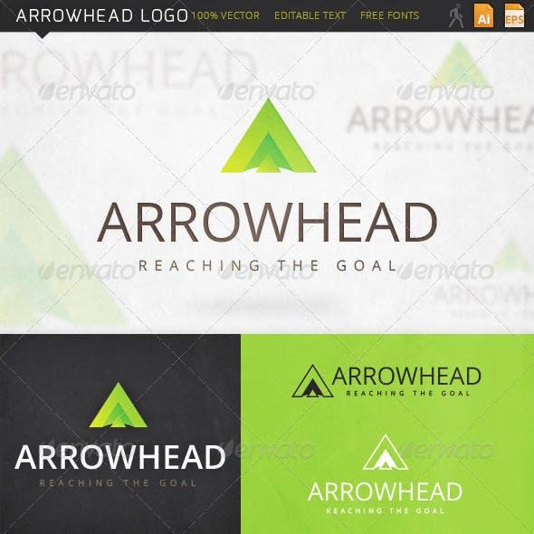 Arrowhead Letter A Logo Template