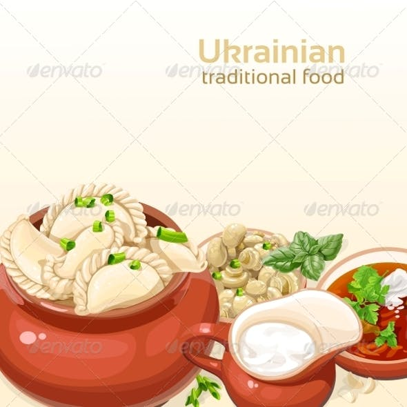 Ukrainian Traditional Food Dumplings