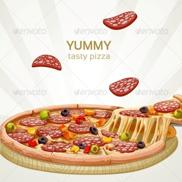 Pizza with Sausage Banner