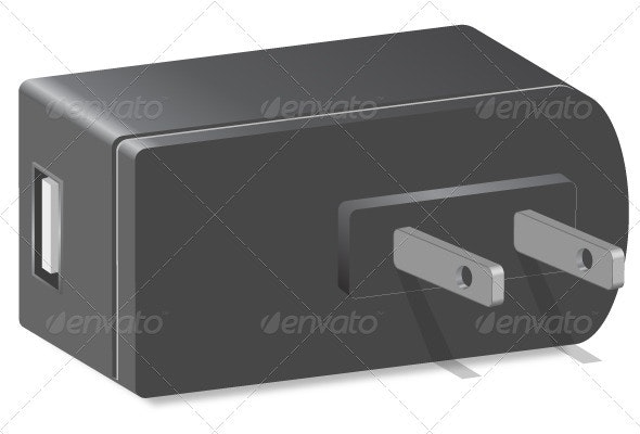 Power Adapter Vector - Objects Vectors