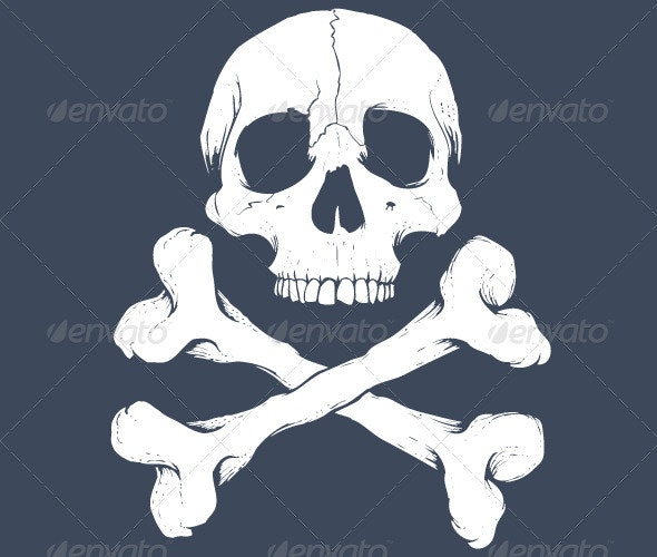 Skull Crossbones - Tattoos Vectors