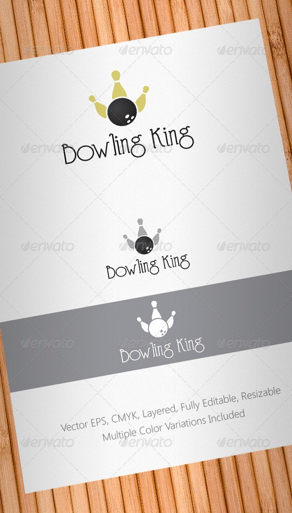 Bowling King Logo Template - Objects Logo Templates