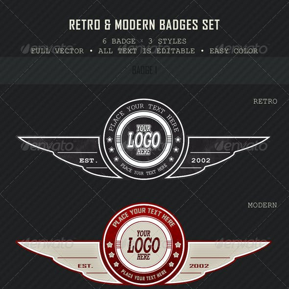 Retro & Modern Badges