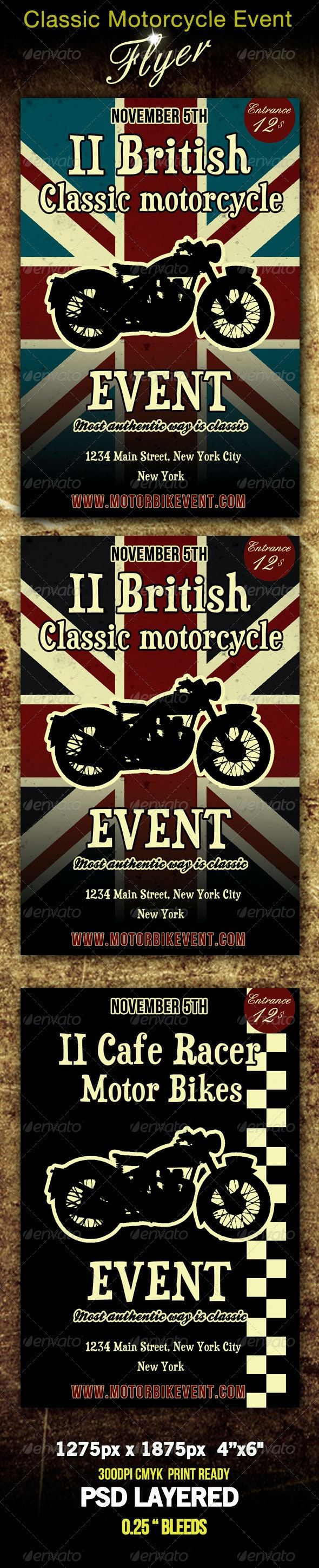 Classic Motorbike Event Flyer - Miscellaneous Events