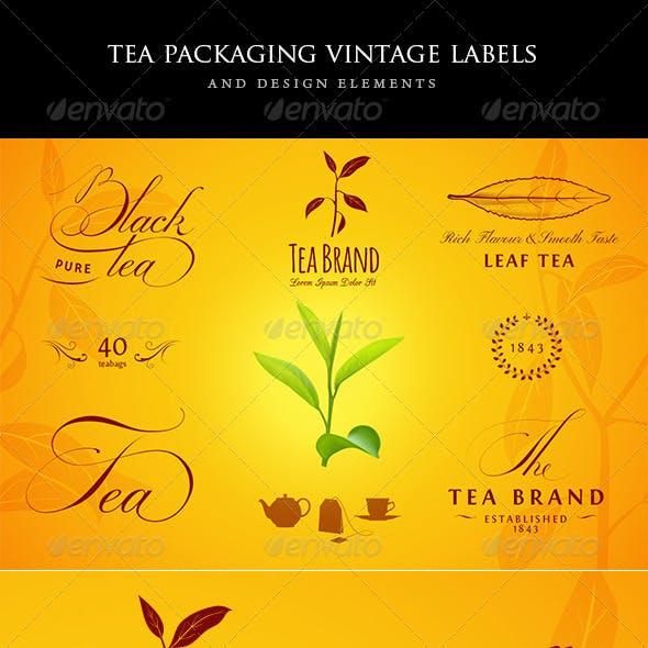Tea Vintage Labels and Design Elements