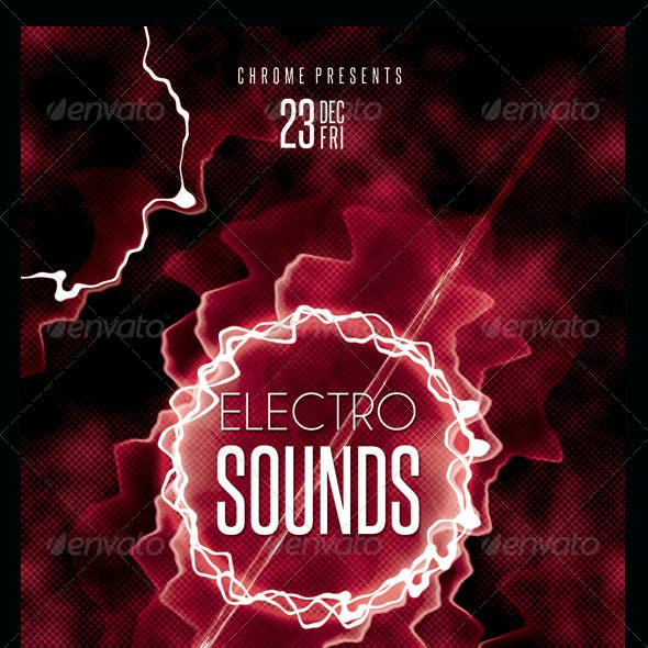 Electro Sounds Futuristic Flyer 8