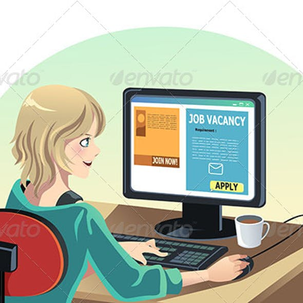 Woman Searching for a Job