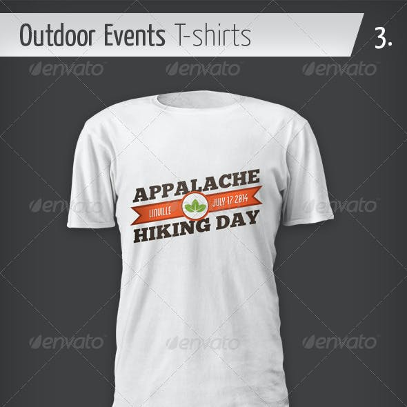 Outdoor Events T-shirts - Hiking Day