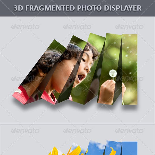 3D Fragmented Photo Displayer