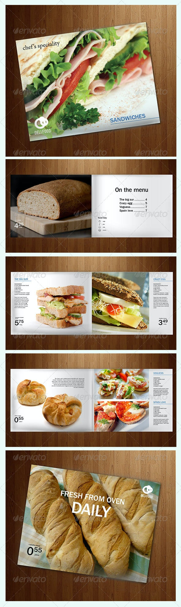 Food Recipes & Ads brochure or flyer - Industry Specific Business Cards