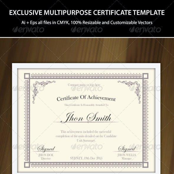 Multipurpose Certificate Templates