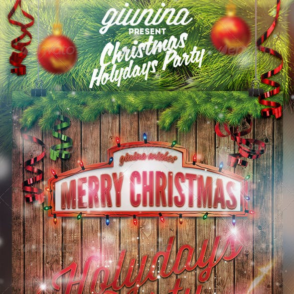 Christmas Holydays Party Flyer/Poster