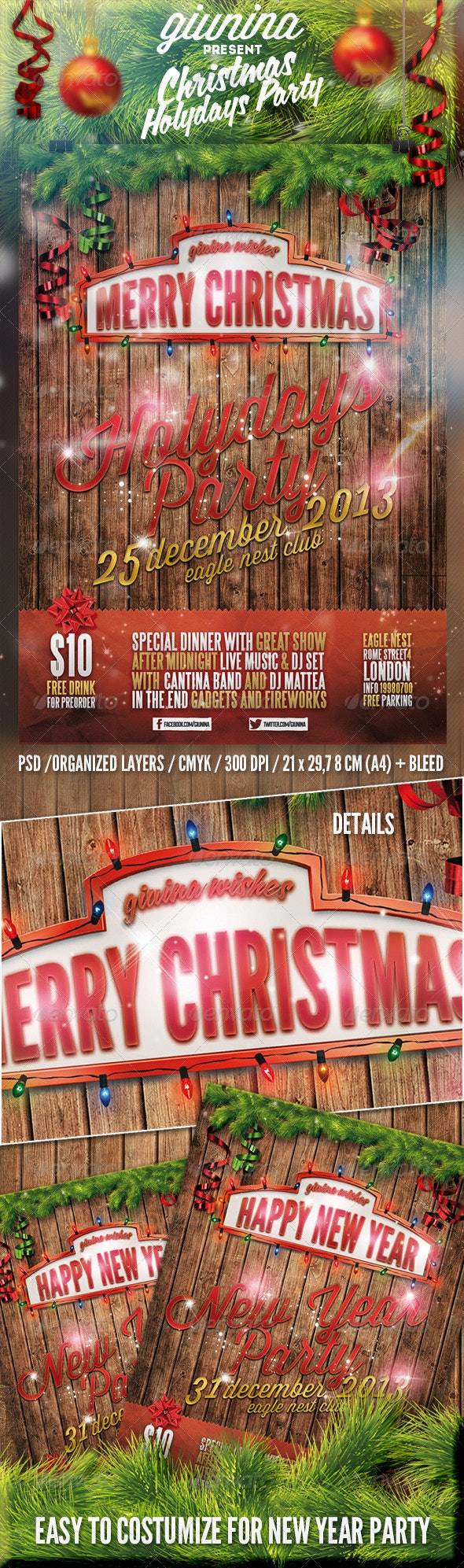 Christmas Holydays Party Flyer/Poster - Events Flyers
