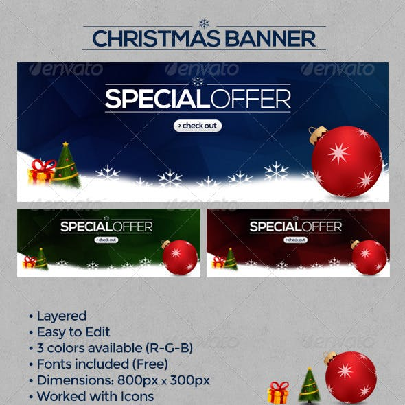Christmas Website Banner