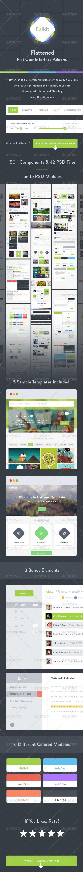Flattened - UI KIT - User Interfaces Web Elements