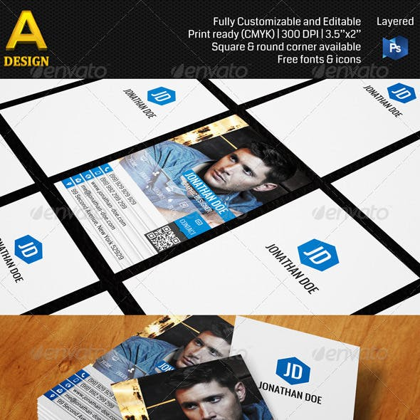 Web Style Personal Business Card AN0152