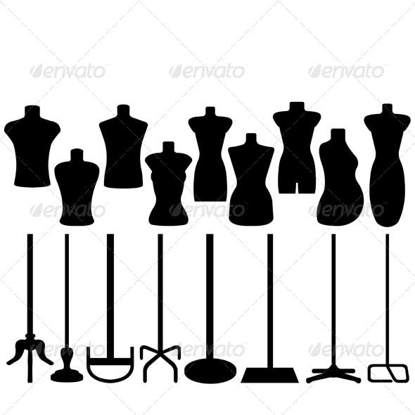 Set of Different Tailor's Mannequins