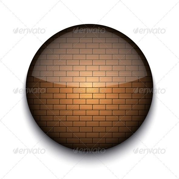 Circle App Brick Icon  - Web Elements Vectors