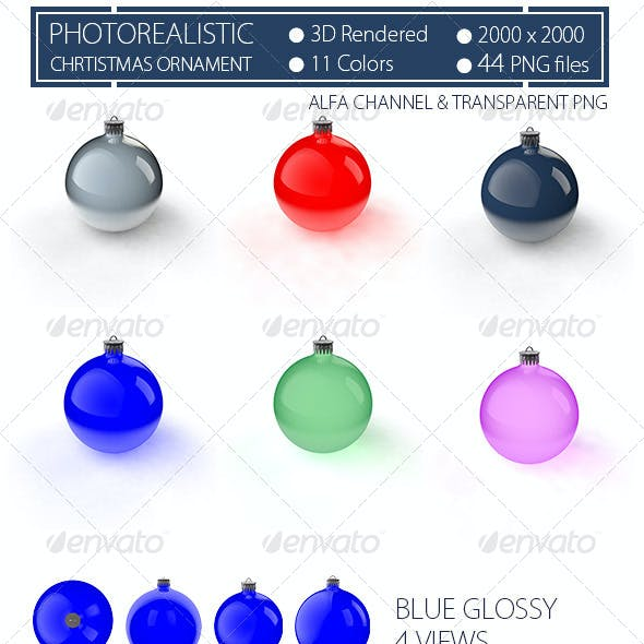 Christmas Ornaments Photorealistic