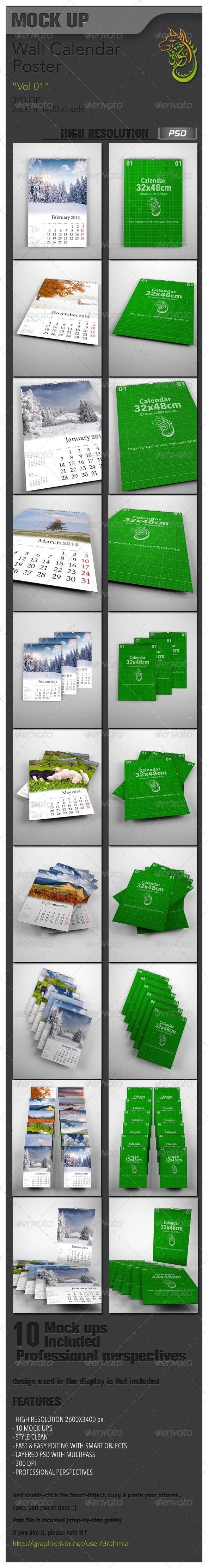Wall Calendar Mockup Vol 01 - Miscellaneous Print