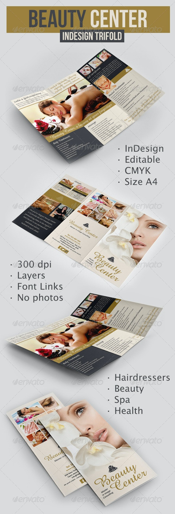 Beauty Center Trifold - Corporate Brochures