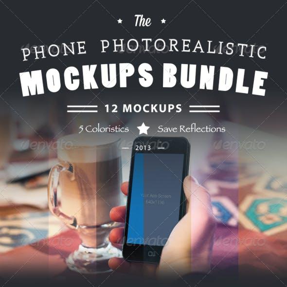 Phone Photorealistic Mockups Bundle