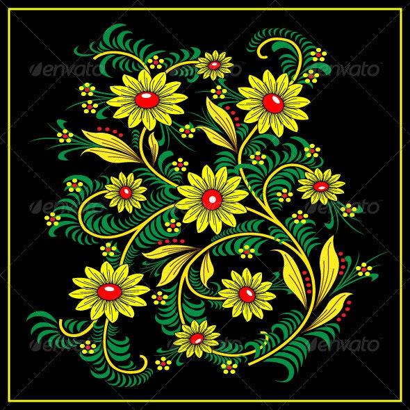 Khokhloma-style - Flourishes / Swirls Decorative
