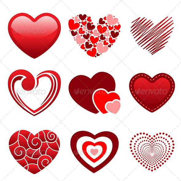 Heart Icons - Valentines Seasons/Holidays