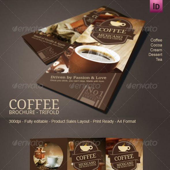 Coffee Brochure Mexicano Tri-Fold