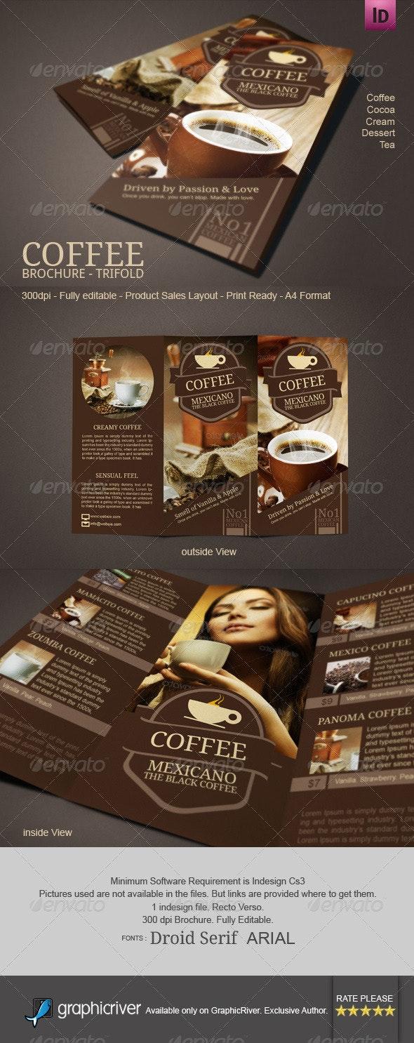 Coffee Brochure Mexicano Tri-Fold - Catalogs Brochures