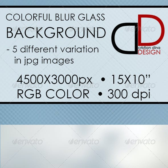 Colorful Blur Glass Background