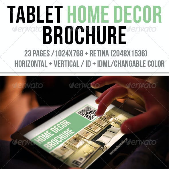 iPad & Tablet Home Decor Brochure