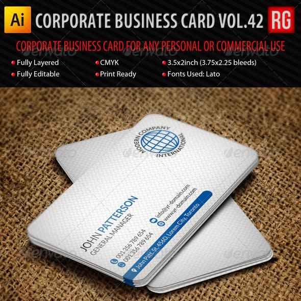 Corporate Business Card Vol.42