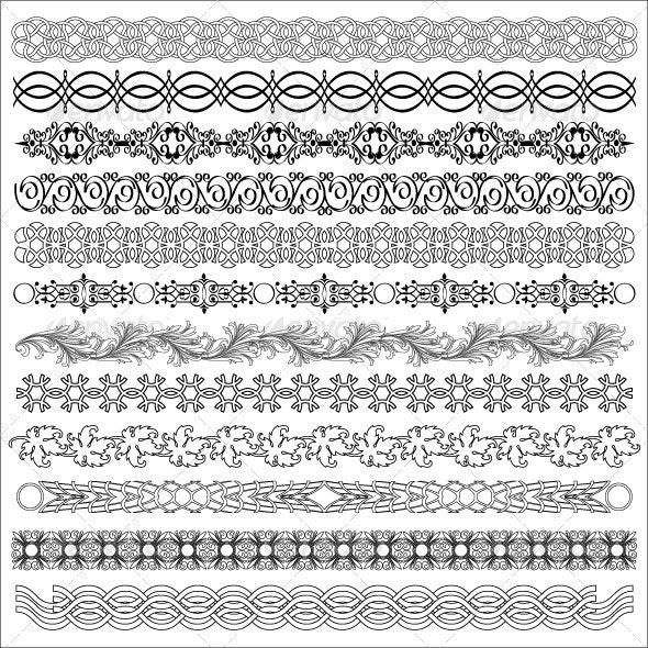 Set of borders for design - Borders Decorative