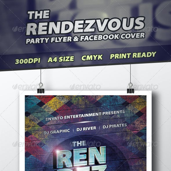 The Rendezvous Party Flyer PSD