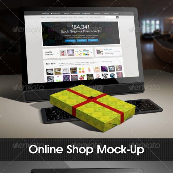 Online Shop Mock-Up