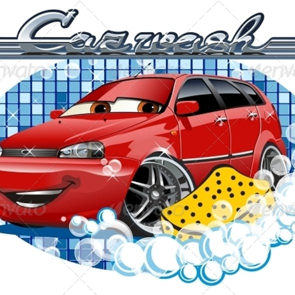 Car Washing Sign with Sponge