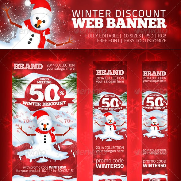 Winter Discount - Web Banner