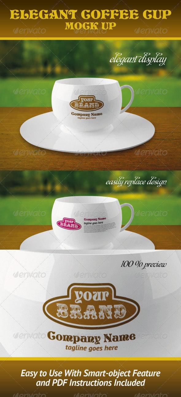 Elegant Coffee Cup Mock-up - Food and Drink Packaging