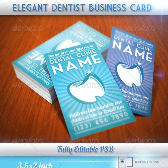 Elegant Dentist Business Card
