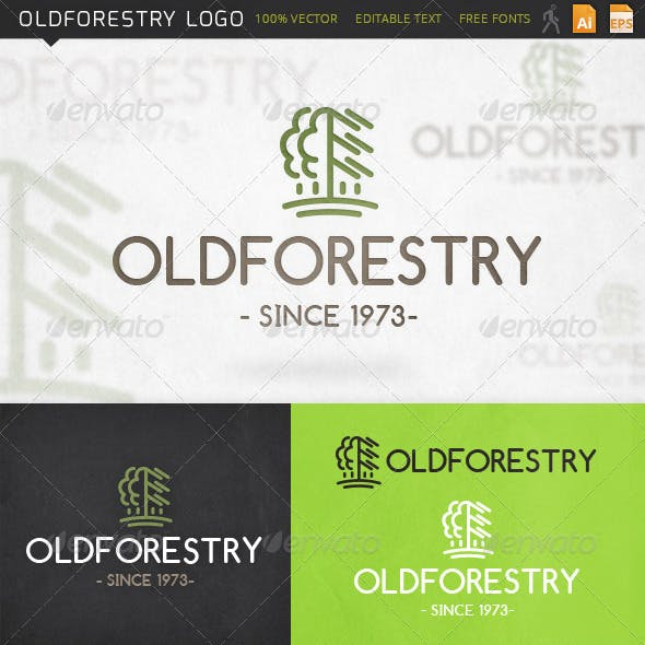 Oldforestry Tree Logo Template
