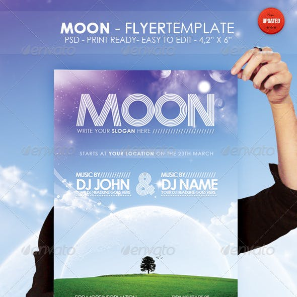 Moon - Flyer Template