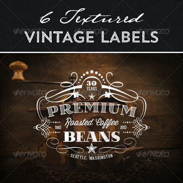 Textured Vintage Labels