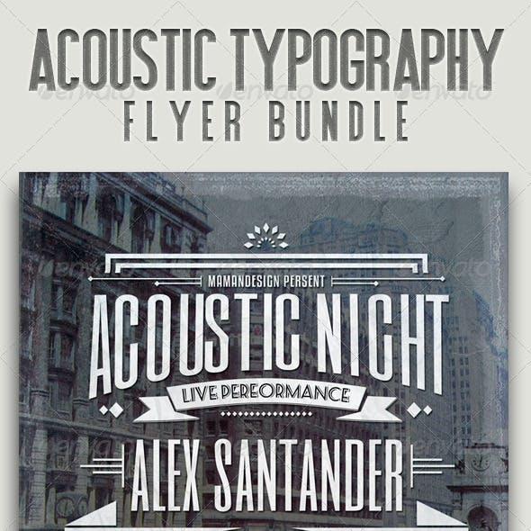 Acoustic Typography Bundle