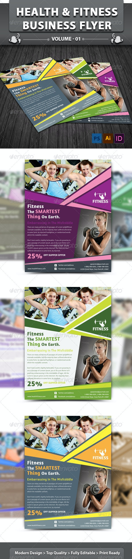 Health & Fitness Center Flyer | Volume 1 - Corporate Flyers