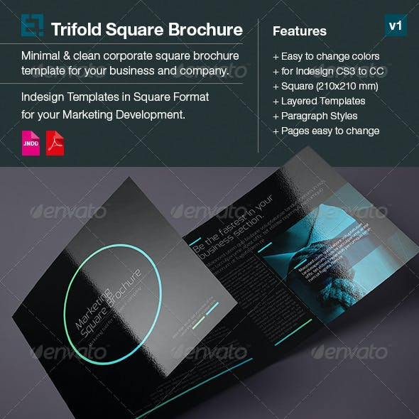 Square Trifold Brochure DoubleInk